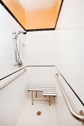 Handicap access shower stall in Snellville GA by Universal Services LLC