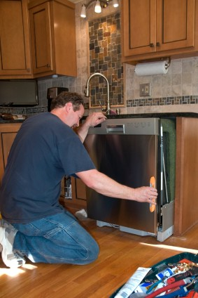 Dishwasher install in Avondale Estates GA by Universal Services LLC handyman.