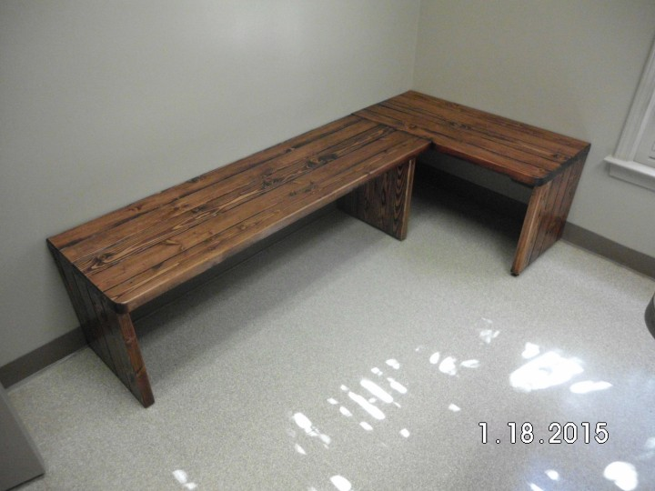 Custom Bench Seating at VCA Animal Hospital