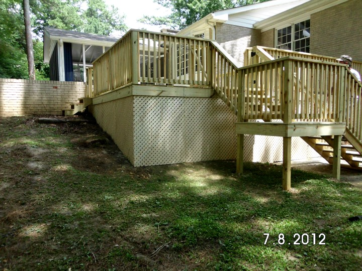 Before and After Deck Building in Dunwoody, GA